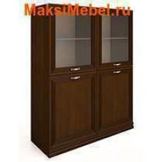 Ангстрем Шкаф напольный (две глухие двери, две стеклянные)