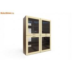 Ангстрем Шкаф настенный со стеклянными дверями Клен Танзау