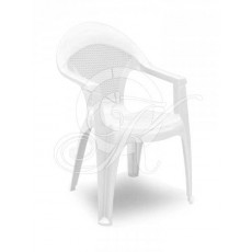 Кресло Барселона белое сетка -1-60*60*90 Газ