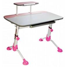 Стол детский Бюрократ CONDUCTOR-03 столешница:молочный ЛДСП цвет основания:розовый 105x71x101.9см