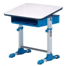 Стол детский Бюрократ Conductor-04/White&B столешница:белый/голубой ЛДСП основание:белый