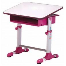 Стол детский Бюрократ Conductor-04/White&P столешница:белый/розовый ЛДСП основание:белый