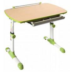 Стол детский Бюрократ Conductor-06/Beech&G столешница:бук/зеленый ЛДСП основание:белый 94 х 60 х 57-73,5 см
