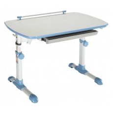 Стол детский Бюрократ Conductor-06/Milk&B столешница:молочный/голубой ЛДСП основание:белый 94 х 60 х 57-73,5см