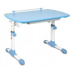 Стол детский Бюрократ Conductor-06 столешница:голубой ЛДСП основание:белый 94 х 60 х 57-73.5см
