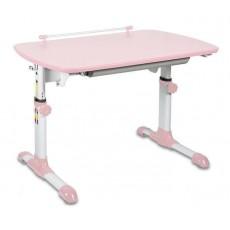 Стол детский Бюрократ Conductor-06 столешница:розовый ЛДСП основание:белый 94 х 60 х 57-73,5см