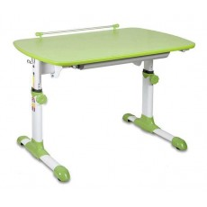 Стол детский Бюрократ Conductor-06 столешница:зеленый ЛДСП основание:белый 94 х 60 х 57-73.5см