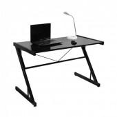 Стол для компьютера Бюрократ SIGMA-3/Black столешница:черный закаленное стекло цвет основания:черный 120x61x74см